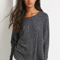 Ribbed Knit Dolman Top