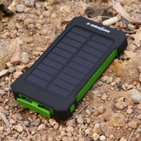 New 10000mAh Solar Charger Portable Solar Power Bank Outdoors Emergency External Battery for Mobile Phone