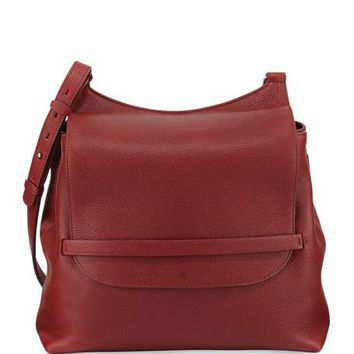 THE ROW Sideby Calf Crossbody Bag, Brick Red