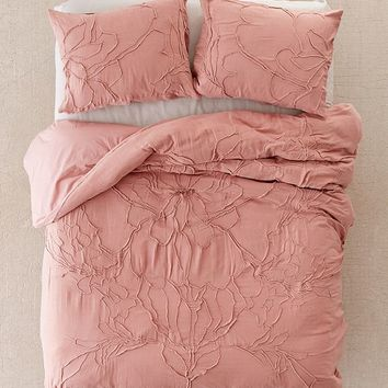 Lumi Floral Roping Duvet Cover | Urban Outfitters
