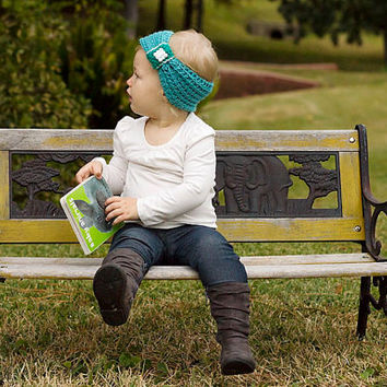 Baby Headband, Kids Headwrap, Kids Spring, 2T Girl Turban, 12 Month Girl, Girl Headband, Toddler Knit Gift, Green Hairband, Baby Ear Warmer