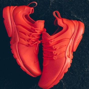 Red NIKE Air Presto Woman Men Running Sneakers Sport Shoes
