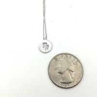 Dainty Circle Coin 12 Constellation  Virgo Necklace