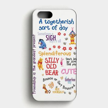 Winnie The Pooh Quotes 2 iPhone SE Case