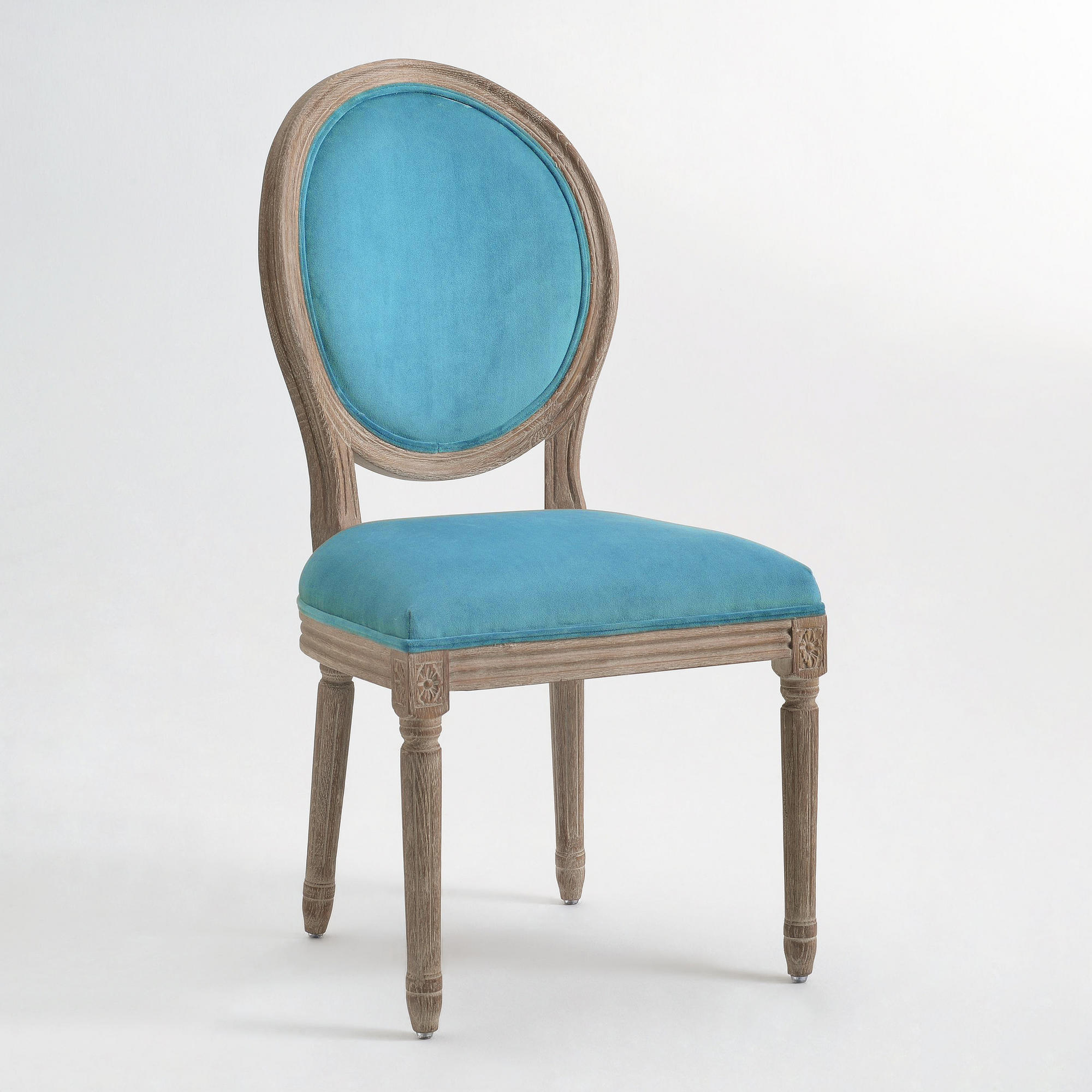 Cost Plus Chairs: Peacock Paige Round Back Dining Chairs, From Cost Plus World