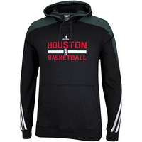 adidas Houston Rockets Practice Pullover Hoodie - Black