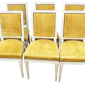 Louis XVI-Style Dining   Chairs, S/6
