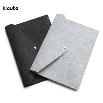 1Pcs A4 Chemical Felt File Folder Durable Briefcase Document Bag Paper File Folders Stationery Store School Office Supplies