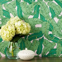 Chasing PaperBanana Leaf Removable Wallpaper