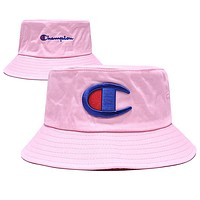 Champion Summer Cute Embroidery Sun Hat Fisherman Hat Cap Pink