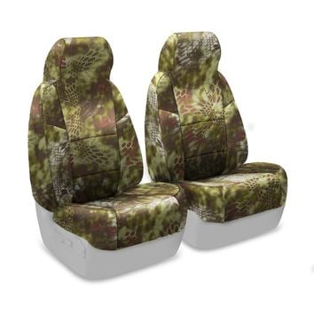 Coverking Front 50/50 Bucket Custom Fit Seat Cover for Select Nissan Titan Models - Ballistic (Kryptek Mandrake Camo)