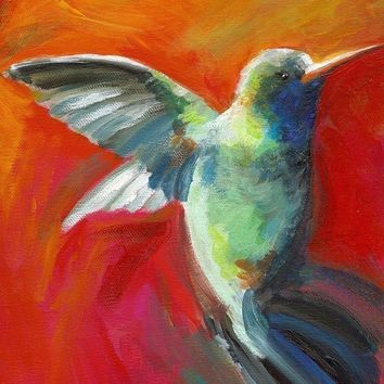 Nectar Archival print hummingbird art by amberalexander on Etsy