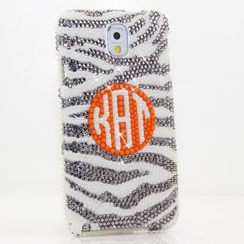 Grey and Pearls Zebra Personalized Monogram Design (style MO_2013)