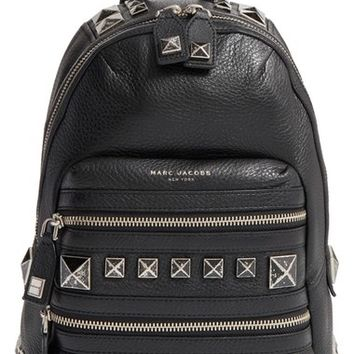 MARC JACOBS 'Recruit - Chipped Studs' Leather Backpack | Nordstrom