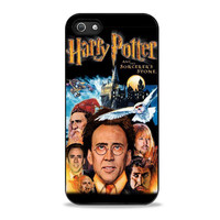 Nicholas Cage x Harry Potter Poster Unique Iphone 5 Case