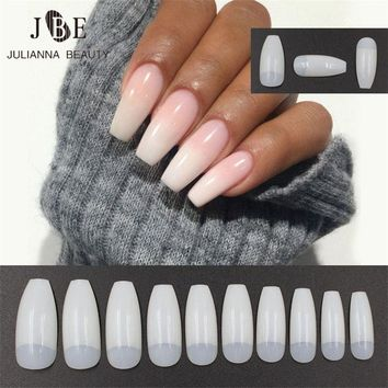 Self-Conscious Fake Long Diy Coffin Shape Nail Art Tips False Cover False Ballerina Nails Nail Care, Manicure & Pedicure
