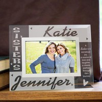 Personalized Sisters Glass Photo Frame