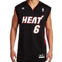 Miami Heat Lebron James Men's Black NBA Revolution 30 Replica Jersey, X-Large