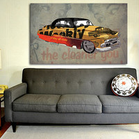Chevrolet Belair 1951 collage, Art Print 12x7.50in to 60x41in, Cars Art print, big size print, large wall print, office decor
