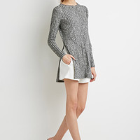 Marled High-Slit Tunic