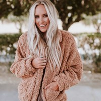 Cozy For Keeps Sherpa Zip Up Coat