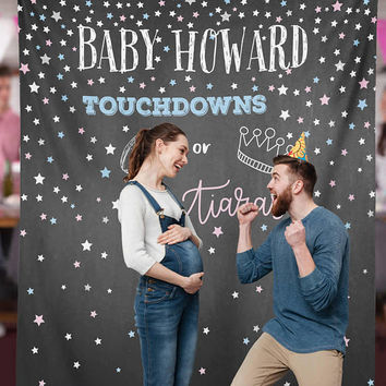 Gender Reveal, Gender Reveal Party, Gender Reveal Ideas, Gender Reveal Party Backdrop, Touchdowns Tutus Baby Shower / N-T09-TP REG1 AA3