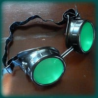 Priority Mail-Steampunk  goggles glasses Time Travel Crazy Scientist's Oculo-Vision Tool welding cyber punk biker gothic rave