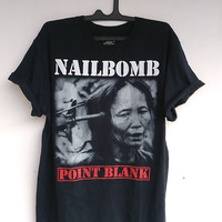 Nailbomb Point Blank 94 Sepultura Cavalera Thrash Punk T shirt size Large