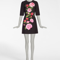 Women's Dresses - New Collection | Dolce&Gabbana - A-LINE PRINTED CADY DRESS