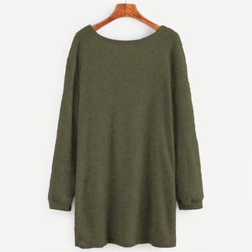 Women Open Front Full Sleeve Sweater Fall  Fashion Spring Cocoon Stretchy Loose Cardigan