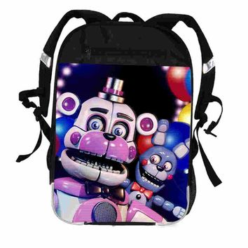 FNAF Backpack Freddy UT  Animal Galaxy Women Men Casual Boys Girls School Bags Hip Hop Male Laptop Mochila BolsaKawaii Pokemon go  AT_89_9