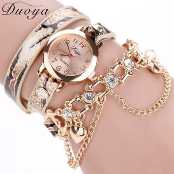 Douya Fashion Wrist Watch With White Skeleton Luxury Brand Women's Bracelet Watches Relogios Femininos