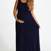 Navy-Blue-Basic-Maxi-Dress