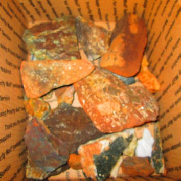 Huge Rock Mineral Gold Mining Lot At Least 20 Pound Or More In A Box
