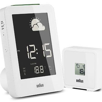 Braun BNC013WH-RC Temperature/Humidity Quartz Alarm Clock