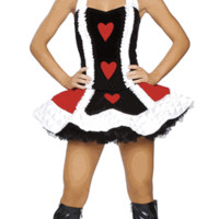Flirty Alice In Wonderland Queen Halloween Costume