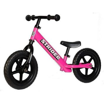 DCCKGQ8 strider 12 balance bike classic kids no pedal learn to ride pre bike pink new