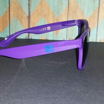 Purple Wayfarer sunglasses - personalized with Monogram or logo of your choice
