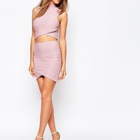 Missguided Bandage Asymmetric Hem Mini Skirt