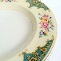Set of 6 - Mid Century Pareek Johnson Bros./England Dinner Plates/Tea Party/Cottage Charm