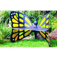 Butterfly Bench - Stained Glass