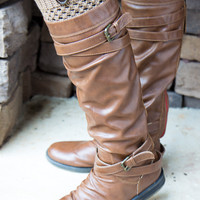 Button Boot Cuff - Mocha