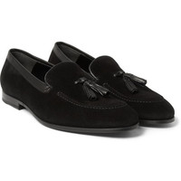 Alexander McQueen - Tasselled Suede Loafers | MR PORTER
