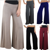 Casual Women Pants Loose Women's Zig zag Palazzo Wide Leg Pants 5 Colors Plus Size M,L,XL,XXL = 1933198660