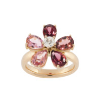 Flowers ring rose gold, pear gemstones | rings RenéSim