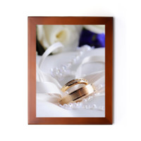 """Wedding Ring 7.25"""" x 9.25"""" Photo Frame (0.7"""" wide) - Custom Picture Frames (0.7"""" wide)"""
