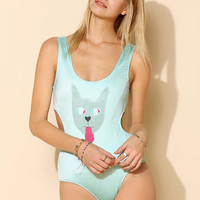 This Is A Love Song Cat Cutout One-Piece Swimsuit - Urban Outfitters