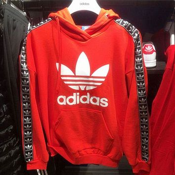 Adidas Fashion Women Hooded Pullover Sweater Top