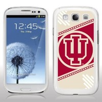 Indiana University - Samsung Galaxy S3 Case - IU Circle Design - White Protective Hard Case