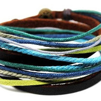 Mens Womens  Leather Bracelet Wristband cuff bracelet friendship bracelets Jewelry Women Bangle   A9